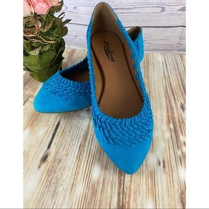 Lucky Brand- Electric Blue Leather Flats